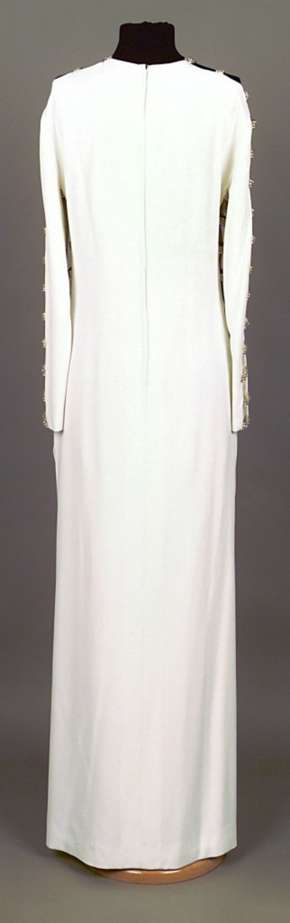 Dress designed by Victoria Cascajo, donated by Lady McMahon