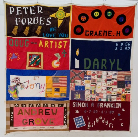 A block from the AIDS quilt
