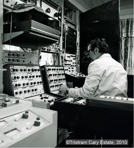 Three VCS3s in Cary's Fressingfield studio