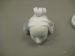 Top view of mannequin's head