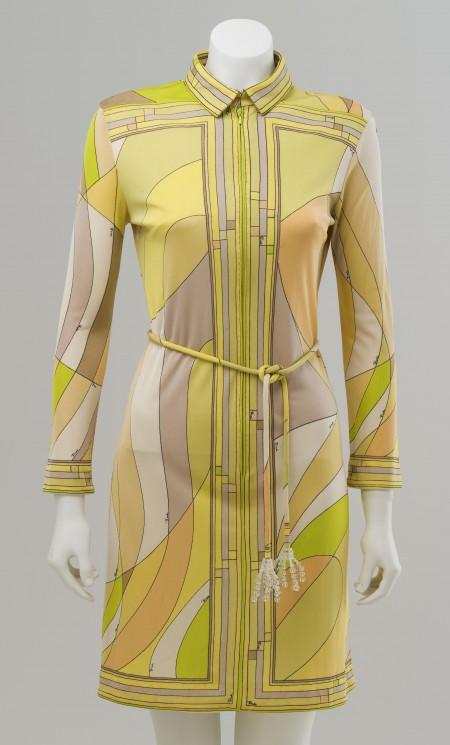 Emilio Pucci's 1960's zipper dress with a playful bright design