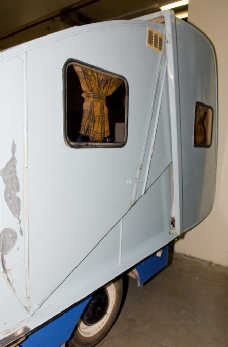 Side view of Folding Caravan