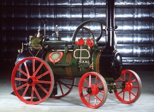 Portable Steam Engine made by Ransomes Sims and Jefferies