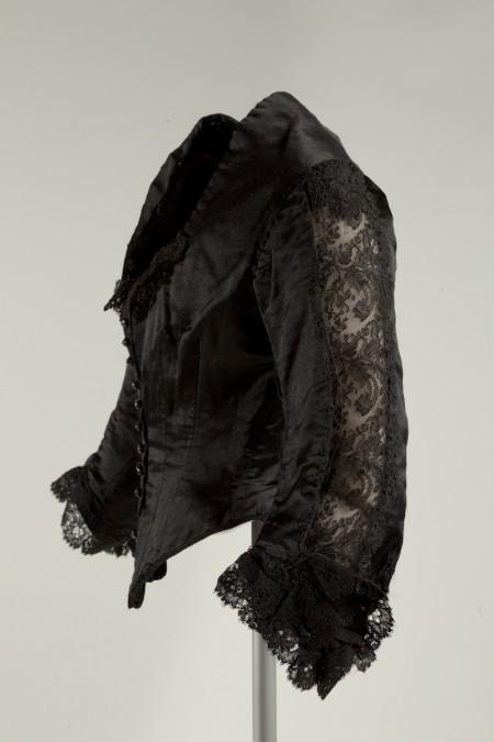 Black lace Bessie Rouses black bodice