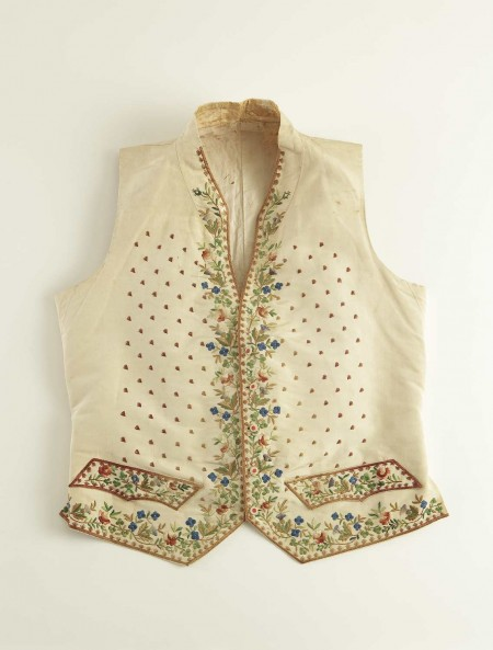 William Charles Wentworth court costume, detailed embroidered vest