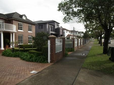 Photograph of residential neighborhood