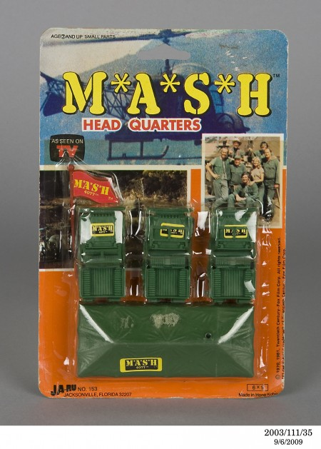 Toy, M*A*S*H Head Quarters, licenced from the television show 'M*A*S*H', 1981