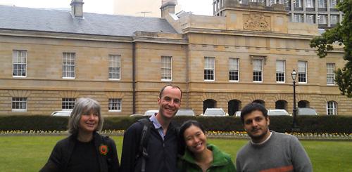 Lynne, Nicholas, Estee and Carlos, Hobart, photo G, Barker, 2011