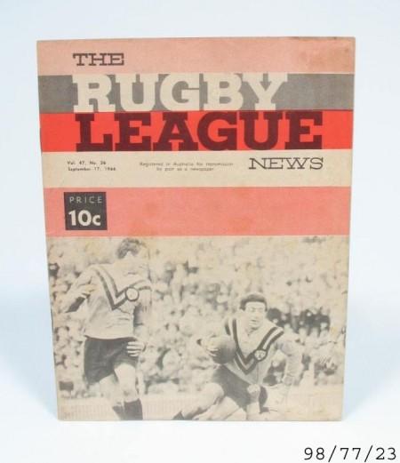 Program: Rugby League News, Grand Final, St George v Balmain, Australia, 17 September 1966