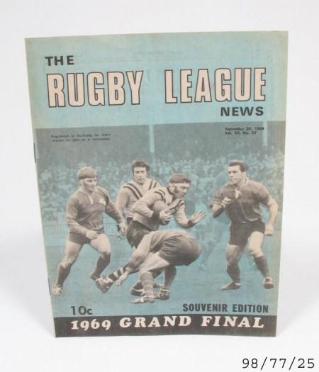 Printed program: Rugby League News, Australia, 20 September 1969