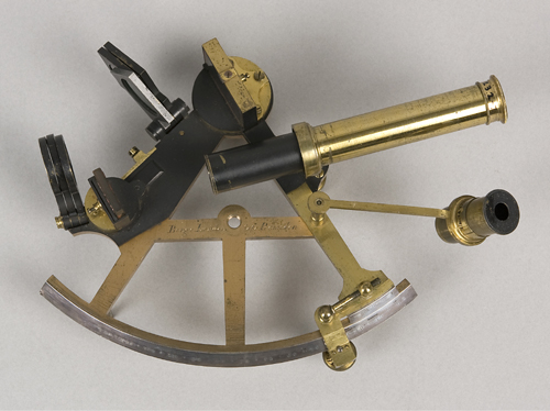 Sextant, used by Phillip Parker King, made by Matthew Berge, London, England, 1805-1819