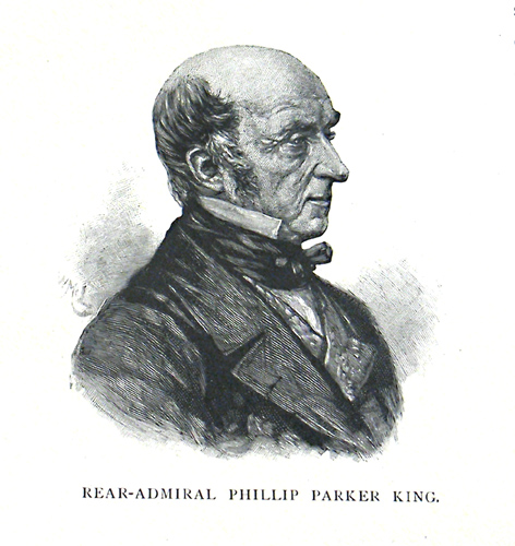 Philip Parker King, engraving from Picturesque Atlas of Australasia, Vol. 2, Sydney, 1886