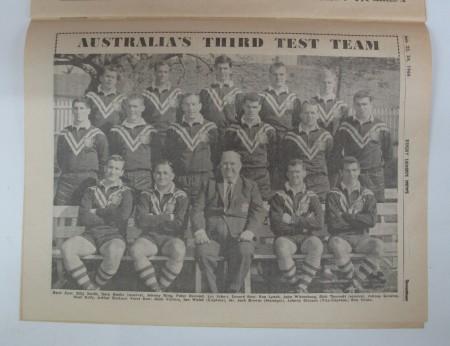 Third test team Artie Beetson pictured in program