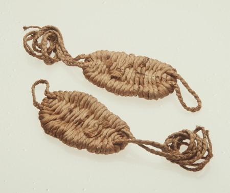 sandals, pair, pandanus fibre, Reef Islands, Banks Group, New Hebrides