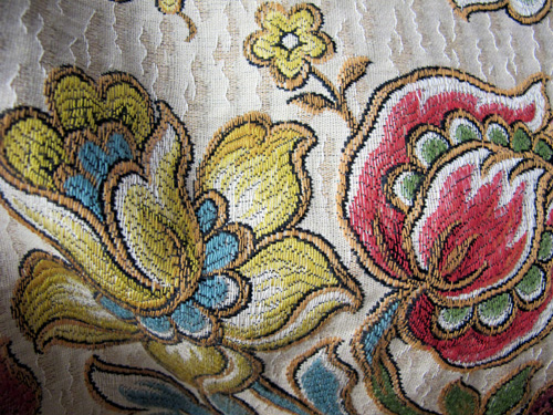 Close up of Moulin Rouge Sydney Opening Ensemble floral embroidery