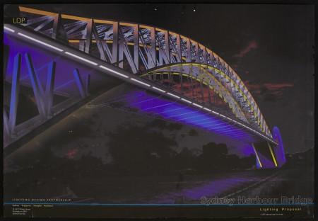 Nigel Levings and Mark Hammer Design for 'Our Bridge' lighting proposal