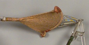 Woven bicycle seat