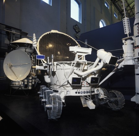 Replica of Soviet Lunokhod 2 Moon roving vehicle