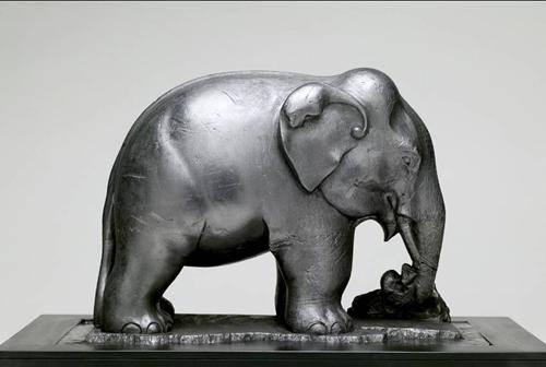 Graphite Sculpted Elephant 1884