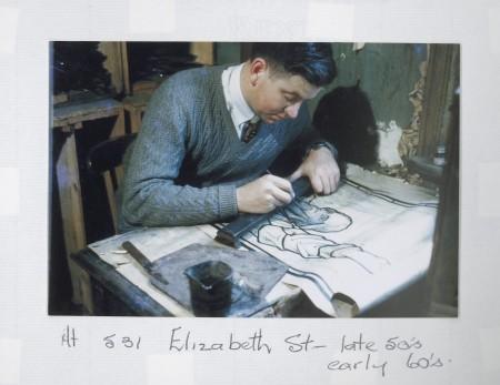 Philip Handel at work in studio