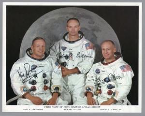Official Apollo 11 signed portrait