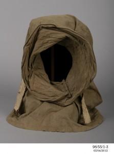 Detail of Burberry helmet