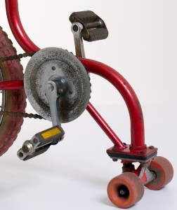 Detail of skate bike pedals