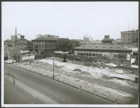 Broadway's southern side widened with demolitions late 1930s
