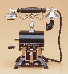 Telephone, 'Eiffel Tower', metal / plastic / electrical components, designed and made by Western Electric