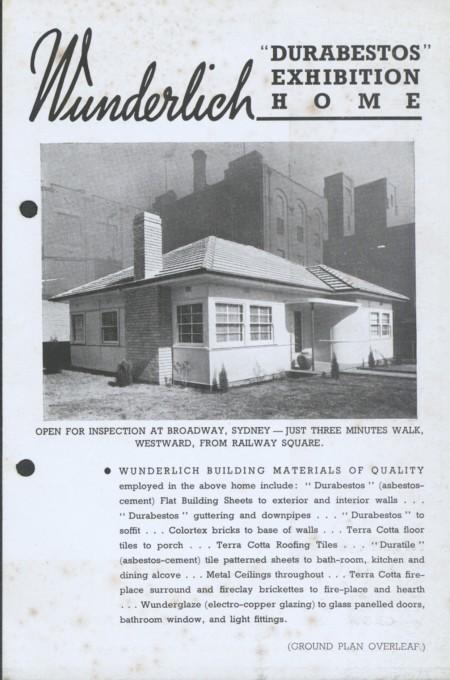 Wunderlich Exhibition home overleaf, c.1940