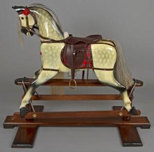 Swing wooden rocking horse