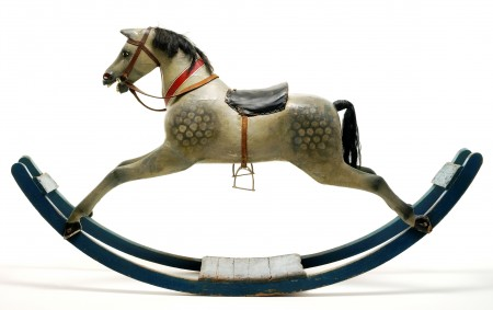 Victorian bow rocking horse, late 19th century