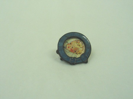 Detail of picture frame brooch
