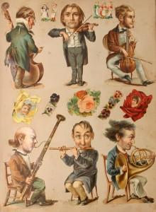 Victorian scrapbook of musicians