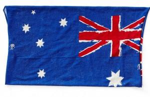 Detail of Australian flag buff