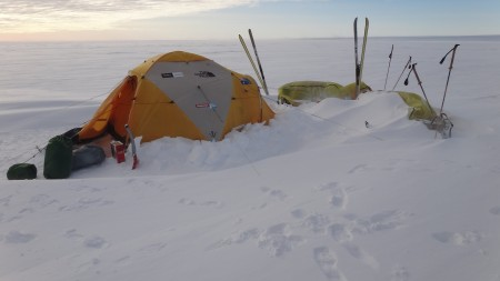 The North Face Inc. VE 25 in use during the 'Crossing the Ice' expedition