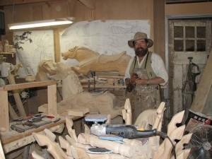 Chris Woolcock in his workshop.