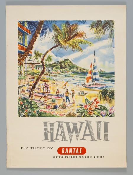 Qantas Hawaii poster