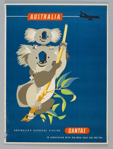 Qantas Australia koala poster