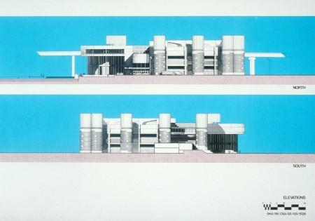 Design of Convention Centre elevations c.1986