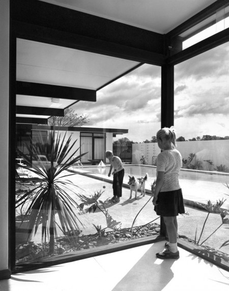 Photograph Interior and swimming pool, St Ives, 1966