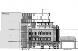 Architectural drawing Clare Hotel redevelopment