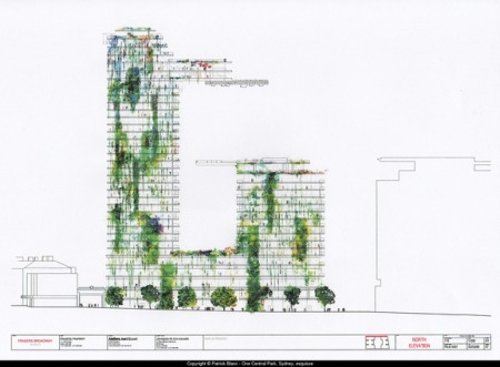 Architectural drawing of Central Park development 2012