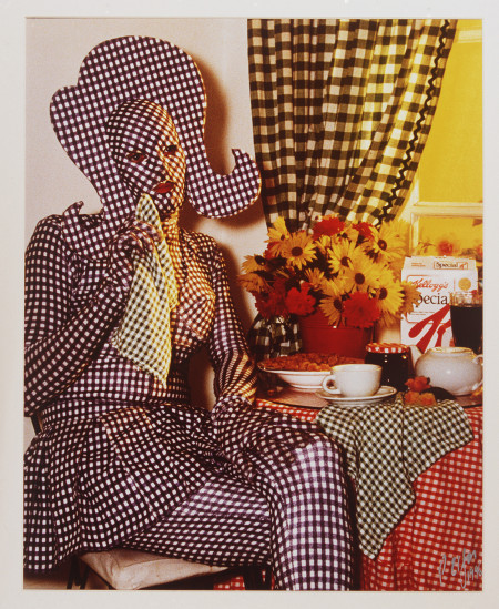 """Photograph of Brenton in """"Gingham"""""""