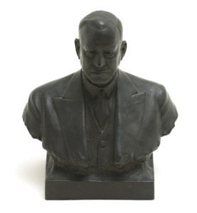 Photograph of Bust of Ernest Frederick Pollock