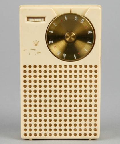 Photograph of Regency transistor radio