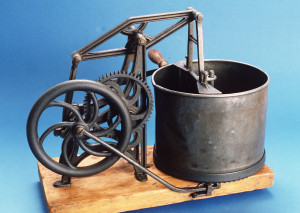 Photograph of Hand-powered food chopper
