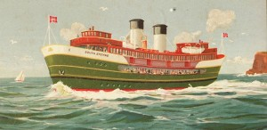Drawing of Manly ferry