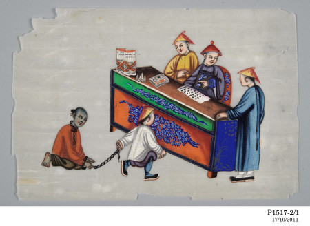 Drawing, depicting punishment