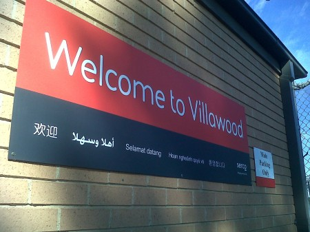 Photograph of Welcome to Villawood sign